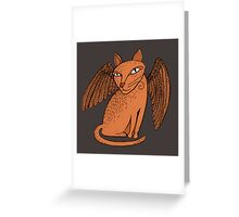 Winged cat Greeting Card