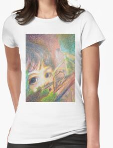 Anna In Grapes - Portrait Womens Fitted T-Shirt