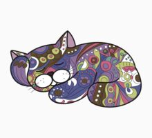 cat in ethnic style One Piece - Short Sleeve