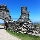 Tintagel Castle; Cornwall by Pengellyn
