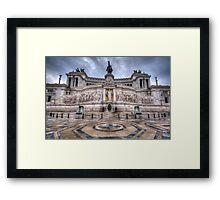 Altare della Patria - Vittorio Emanuele 1.0 Framed Print