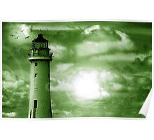 Lighthouse Collaboration in Green Poster