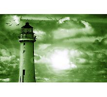 Lighthouse Collaboration in Green Photographic Print