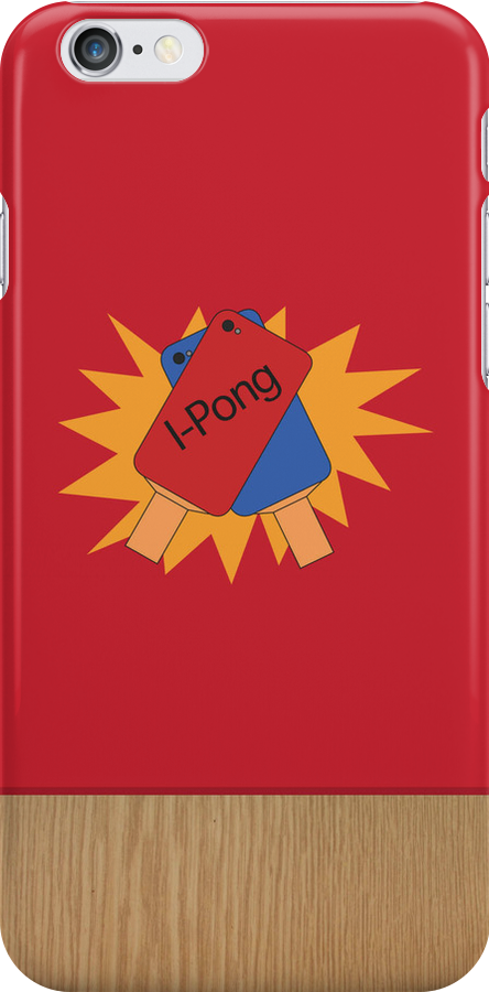 Ping Pong IPhone case (red) by Sam Mobbs