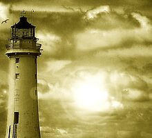 Lighthouse Collaboration in Yellow by DavidWHughes
