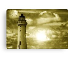 Lighthouse Collaboration in Yellow Canvas Print