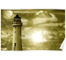 Lighthouse Collaboration in Yellow Poster