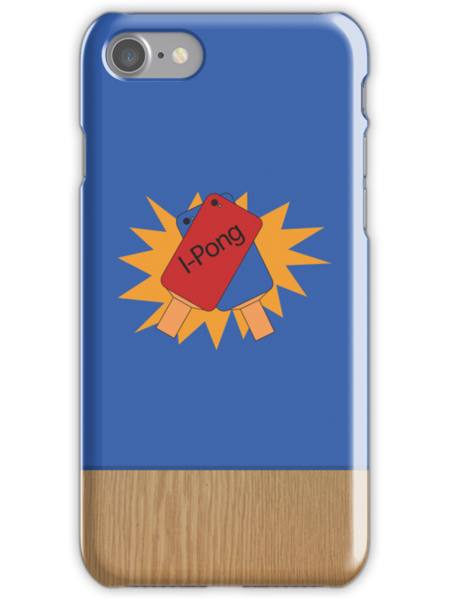 Ping Pong IPhone case (blue) by Sam Mobbs