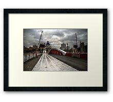 HDR Tyne Swing Bridge Framed Print