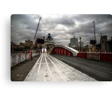 HDR Tyne Swing Bridge Canvas Print