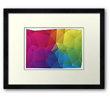 abstract colorful pattern, geometric polygon design Framed Print