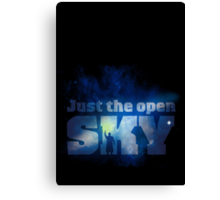 Just the Open Sky Canvas Print
