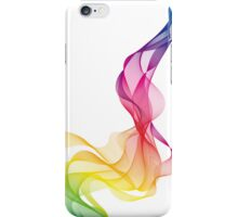 abstract colorful smoke, color waves pattern iPhone Case/Skin