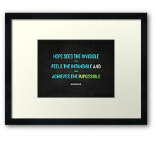 Motivational quote - green Framed Print