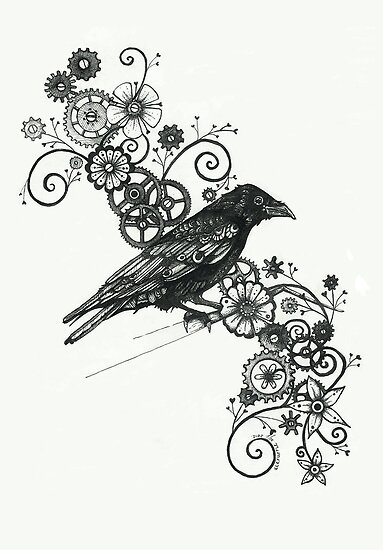 Clockwork Crow by fitakerfuffle