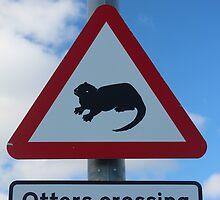 Otters crossing by Porridgewog32