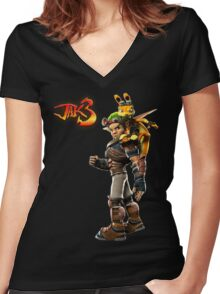 Jak and Daxter - Jak 3 Women's Fitted V-Neck T-Shirt