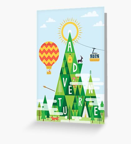 Adventure mountain Greeting Card