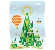 Adventure mountain Poster