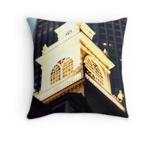 Old State House Steeple, Boston, Massachusetts Throw Pillow
