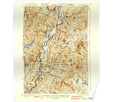 USGS TOPO Map New Hampshire NH Mt Cube 330217 1933 62500 Poster