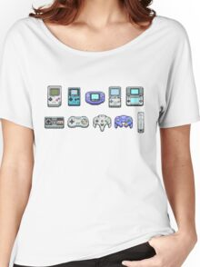 Nintendo Controller Family  Women's Relaxed Fit T-Shirt