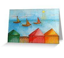 Beach huts, somewhere Greeting Card