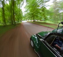 Cruising in a Volkswagen Beetle  by willgudgeon