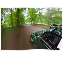 Cruising in a Volkswagen Beetle  Poster