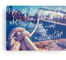 Leonardo Da Vinci Quote Poster Metal Print