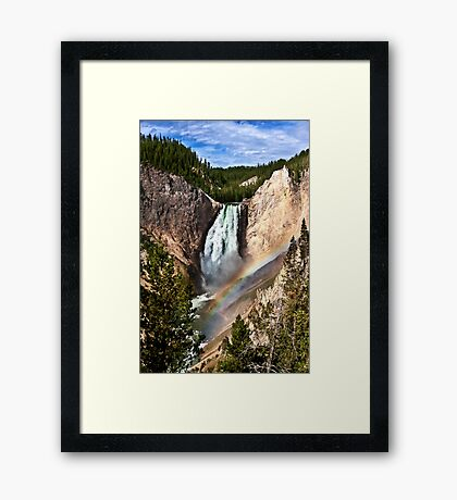Yellowstone River At  The Lower Falls Framed Print