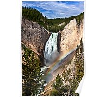 Yellowstone River At  The Lower Falls Poster