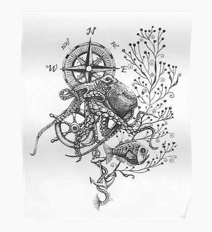Octopus's garden Poster