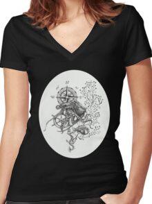 Octopus's garden Women's Fitted V-Neck T-Shirt