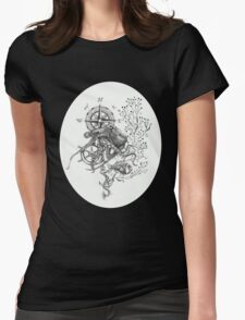 Octopus's garden Womens Fitted T-Shirt