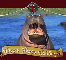 Happy Hippo Holidays by Owed To Nature
