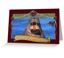 Happy Hippo Holidays Greeting Card