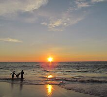 Children playing on the beach by solena432