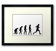 Evolved to Run Framed Print