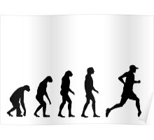 Evolved to Run Poster