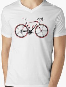 Race Bike Mens V-Neck T-Shirt