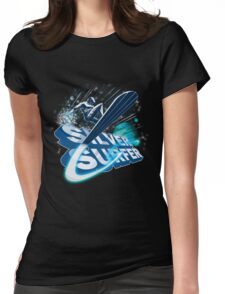 Silver Surfer Womens Fitted T-Shirt