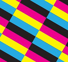 Diagonal (CMYK) by Mark Omlor