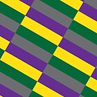 Diagonal (Purple/Green/Grey/Yellow) by Mark Omlor