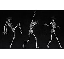 Dancing Skeletons Photographic Print