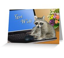 Get Well Raccoon Greeting Card