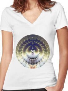 Psychedelic Sun Women's Fitted V-Neck T-Shirt