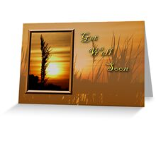 Get Well Soon Sunset Greeting Card