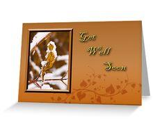 Get Well Soon Leaf Greeting Card