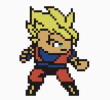 8 Bit Goku Super Saiyan 1 by N1N10D0PE